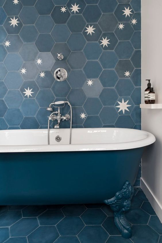 Bathroom Tile, Hexagon Tile, Subway Tile